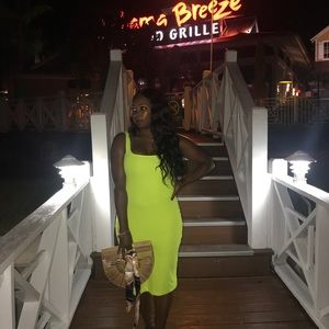 Zara Neon Green Dress